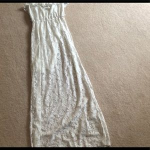 Lace strapless long dress OBO